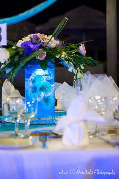 #Wedding #Reception © V.Hatzikelis Photography Centerpieces, Table Decorations, Beach Resorts, Christening, Wedding Reception, Anniversary, Birthday, Photography, Marriage Reception