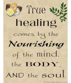 nourish the mind, body & soul.....