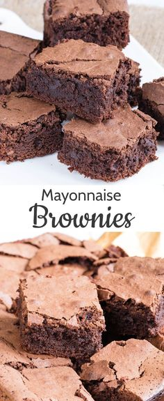 chocolate brownies with mayonnaise are rich, gooey, and deliciously simple. At first glance it seems an odd combination, but the main ingredients of mayonnaise are eggs and oil so it makes perfect sense.