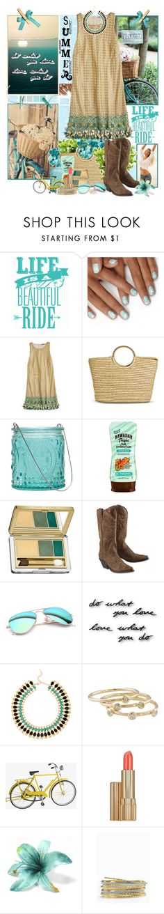 """""""Life is a Beautiful Ride"""" by summersunshinesk7 ❤ liked on Polyvore featuring Ralph Lauren, Calypso St. Barth, Merona, Northern Lights Candles, Hawaiian Tropic, Pantone, Estée Lauder, Dan Post, Seed Design and Ray-Ban"""