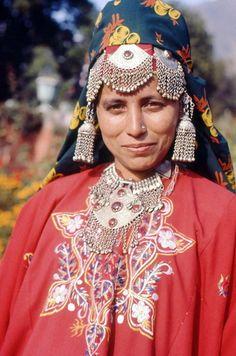 A Kashmiri Girl In Traditional Dress