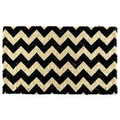 Black & Natural Chevron Doormat