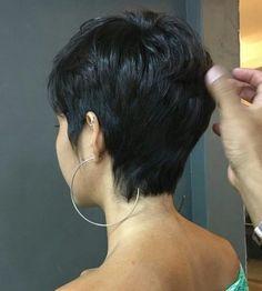 Short Dark Hair, Short Sassy Hair, Short Hair Cuts For Women, Pixie Haircut Styles, Short Bob Hairstyles, Haircuts, Shot Hair Styles, Curly Hair Styles, Aesthetic Hair