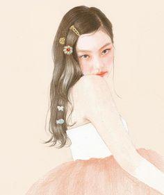 Aesthetic Drawing, Aesthetic Art, Sketchbook Inspiration, Art Sketchbook, Mode Kpop, Korean Painting, Best Photo Poses, Cute Anime Character, Kpop Drawings