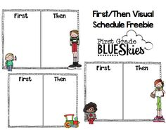 Autism Classroom- First Then Visual Schedule