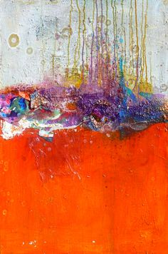 Sizzle by Amy Longcope -  Acrylic paint mixed with polymer gel, Metallic, Bubble Wrap, drywall tape, Plastic, Coarse Lava Gel, Cardboard, Painted Paper, and Polyurethane Gloss on museum stretched canvas