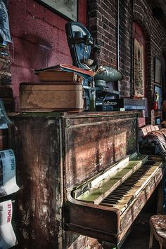 Beautiful abandoned things, once prized and treasured, left to rot.