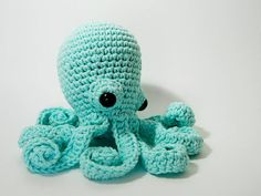 motleycraft-o-rama:  Octopus Amigurumi in Aqua by LadyLilliput...