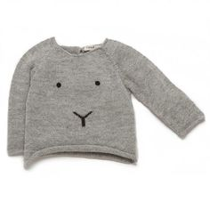 Bunny sweater in light grey/black.