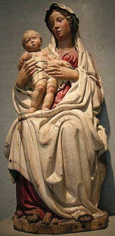 """Jacopo della Quercia:  """"Madonna col Bambino""""  (Virgin and Child)"""