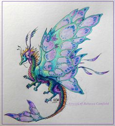 A lil faery dragon flutter who exists because I wanted to try out 's style of wings, not sure if I pulled it off. I drew the wings first then created the lil dragon to go with them. Baby Dragon Tattoos, Small Dragon Tattoos, Dragon Tattoo For Women, Dragon Tattoo Designs, Cute Dragon Tattoo, Fake Tattoos, Fantasy Creatures, Mythical Creatures, Dragon Artwork