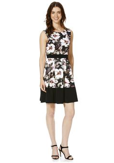 Clothing at Tesco | Stella Morgan Floral Print Prom Dress > dresses > Women's Dresses > Women