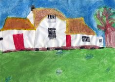 Abigail Forbes, age 9, took 2nd Place in the EHOD Children's Art Competition 8 - 10 age group with a drawing of  Wilson House Ancestral Homestead