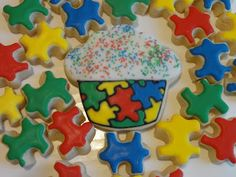 Puzzle Cupcake Cookie