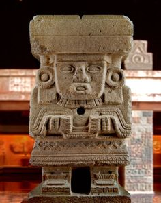 Statue of the Great Goddess or Chalchiuhtlicue - Teotihuacan 100-300 CE - Carved in stone