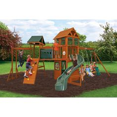 The Atlantic climbing frame has a play deck with a rock wall and ladder to the open balcony. With a slide and swings, slide and serving counter for games. Toddler Preschool, Toddler Toys, Outdoor Toys For Toddlers, Canada Shopping, Big Backyard, Rock Wall, Online Furniture, Climbing, Building A House