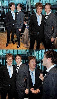"""Benedict Cumberbatch and David Tennant. Fist pic fandom like """"now Kiss """"♡.♡"""