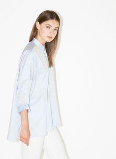 Camisa oversize azul-celeste - Camisas e blusas - Ready to wear - Uterqüe Portugal
