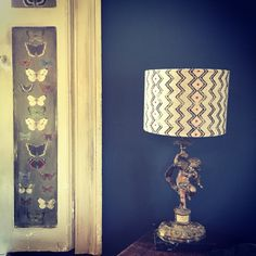 Hand printed Lightshade in my Shropshire Farmhouse.