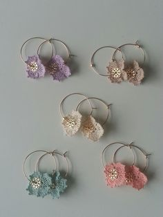 crochet lace earrings http://www.pinterest.com/annarivers0055/what-i-make/