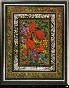 "تذهیب فارسی سبک گل و پرنده - Persian Tazhib, did with ""Gol-o Morgh"" style - flowers and birds"