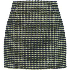 Carven Bouclé-tweed mini skirt ($135) ❤ liked on Polyvore featuring skirts, mini skirts, bottoms, sage green, boucle skirt, short green skirt, tweed skirt, short skirts and short mini skirts