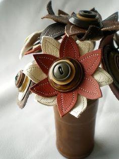 deri giyim aksesuarları: Çiçek