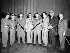 "The real Eliot Ness and his team Dubbed the ""Untouchables"""