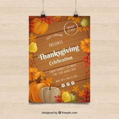 Thanksgiving day posters in vintage style Free Vector