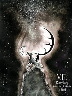 Voros Eszter Anna - stars and silhouette Fantasy Paintings, Mystic, Art Gallery, My Arts, Silhouette, Landscape, Nature, Movie Posters, Anna