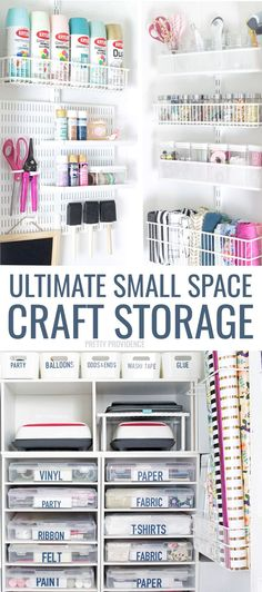 under stairs storage closet has been transformed into craft storage heaven! This is the craft closet of my dreams, with tons of organization. Ribbon storage ideas, Cricut iron-on vinyl, scrapbook paper storage, and more! under stairs storage closet. Craft Room Storage, Arts And Crafts Storage, Stair Storage, Cupboard Storage, Space Crafts, Diy Storage, Craft Storage Ideas For Small Spaces, Bedroom Storage, Food Storage