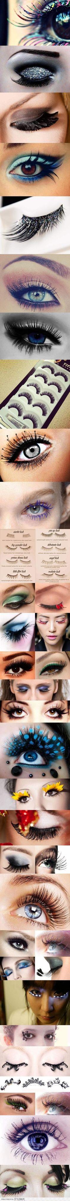 different lash looks! Just fabulous!