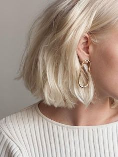 Soft oval earrings in Gold vermeil