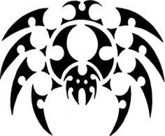 Spider tattoo top view design*vector*
