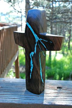 "Custom Danielle 11 "" x 7"" & 10"" x 7"" Walnut Standing Crosses"