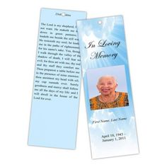 Sports obituary bookmarks baseball football basketball for Memorial bookmarks template free