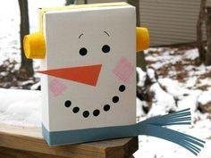 mono de nieve decorativo
