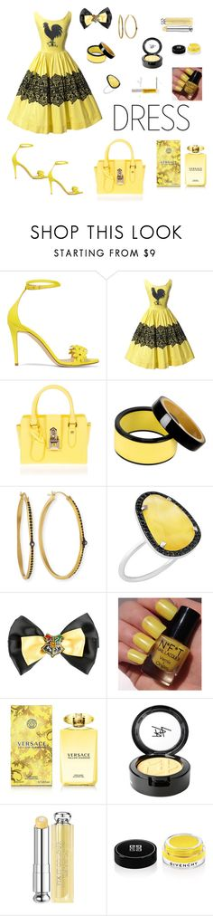 """Casual Yellow And Black Outfit"" by siriusfunbysheila1954 ❤ liked on Polyvore featuring J.Crew, Patrizia Pepe, Marni, Armenta, Christina Debs, Warner Bros., Versace, Beauty Is Life, Christian Dior and Givenchy"