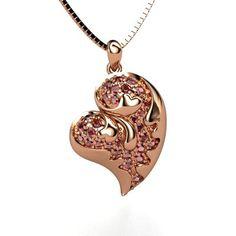 14K Rose Gold Necklace with Red Garnet