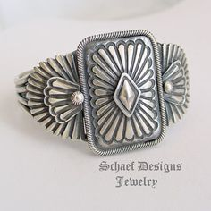 Leon Martinez Heavy Gauge Sterling Silver Oval Concho Cuff Bracelet | Schaef Designs Southwestern, Native American & turquoise Jewelry | New Mexico