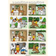 Procvičujme a trénujme s rodiči Preschool Reading Activities, Kids Math Worksheets, Sequencing Pictures, Story Sequencing, Forest Animal Crafts, Picture Comprehension, Picture Story, Speech Language Therapy, Math For Kids