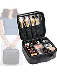 VASKER Travel Makeup Bag Leather Waterproof Cosmetic Case with  Divider VA-07 Price:	$25.88 & FREE Shipping.