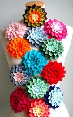 felt flowers - bjl
