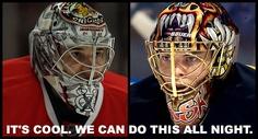 Amazing ninja goalies.