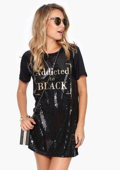 All Black Everything Dress