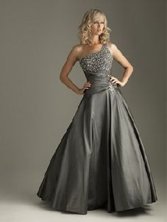 Charcoal Beaded A Line Party Evening Prom Pageant Dress Ballgown Sz 6 8 10  12 14 4638c32d9348
