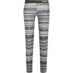 Nike Pro Warm 8 printed stretch-jersey leggings, Women's, Size: XS (1.034.015 IDR) ❤ liked on Polyvore featuring activewear, activewear pants, nike activewear, nike activewear pants, nike and nike sportswear