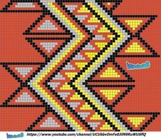 """The location where building and construction meets style, beaded crochet is the act of using beads to decorate crocheted products. """"Crochet"""" is derived fro Tapestry Crochet Patterns, Crochet Stitches Patterns, Loom Patterns, Quilt Patterns, Stitch Patterns, Knitting Patterns, Mochila Crochet, Bag Crochet, Crochet Purses"""
