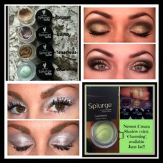 """Happy #NationalSplurgeDay!  These natural based """"Splurge"""" Cream Eye Shadows by Younique are absolutely beautiful, go on super easily, never crease, and last all day!  I'm in love!!  <3"""