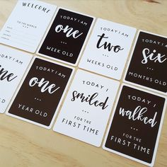 Leni   co Baby Milestone Card Set Chart your baby's growth with this beautifully designed milestone card set. Photograph your baby with each...